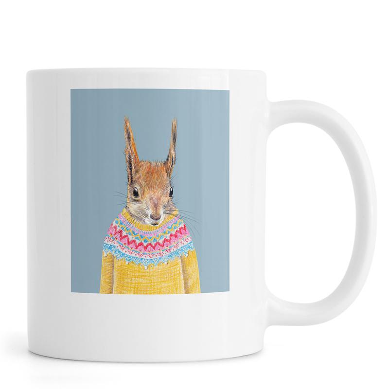 Hörnchen im Pullover -Tasse