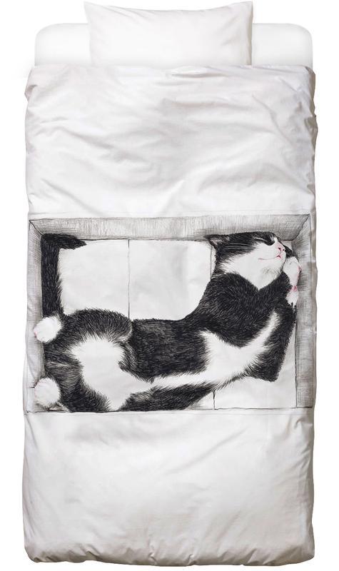 Chats, Art pour enfants, Katze im Karton housse de couette enfant