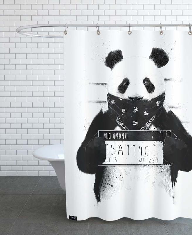 Pandas, Lustig, Schwarz & Weiß, Bad Panda -Duschvorhang