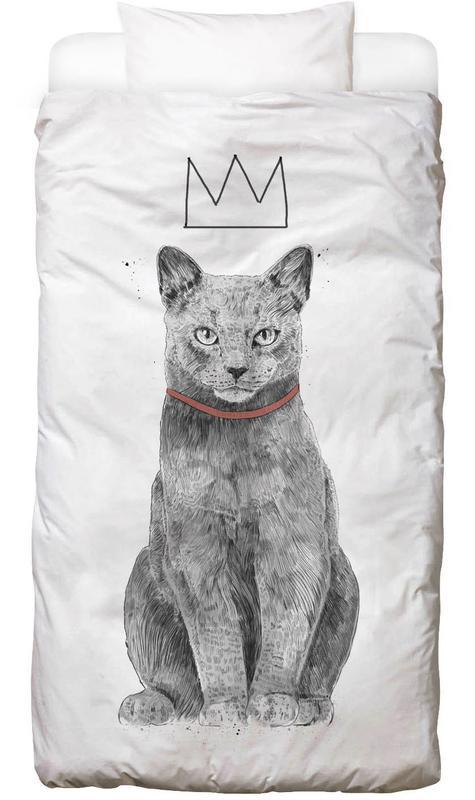 Katzen, King Of Everything -Kinderbettwäsche