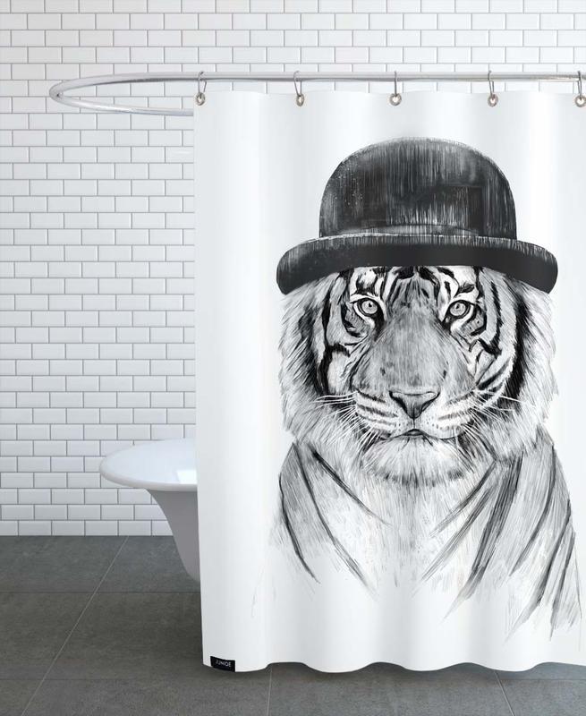 Schwarz & Weiß, Tiger, Welcome To The Jungle -Duschvorhang