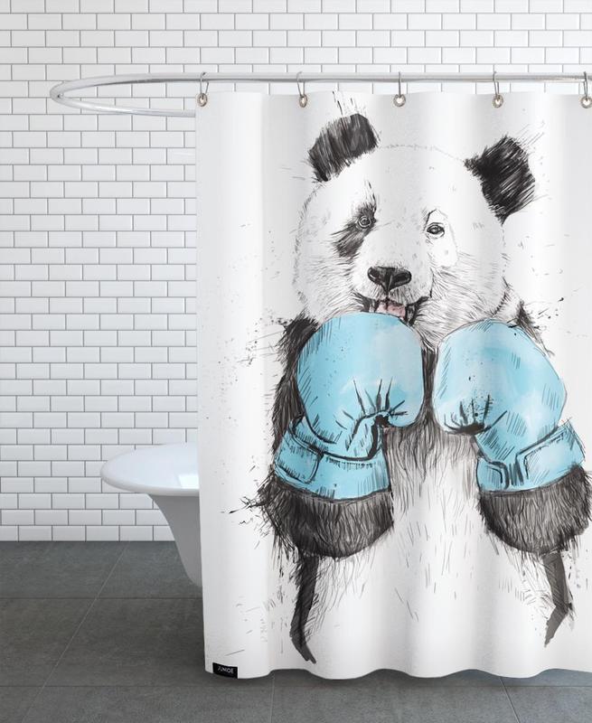Kinderzimmer & Kunst für Kinder, Pandas, The Winner -Duschvorhang