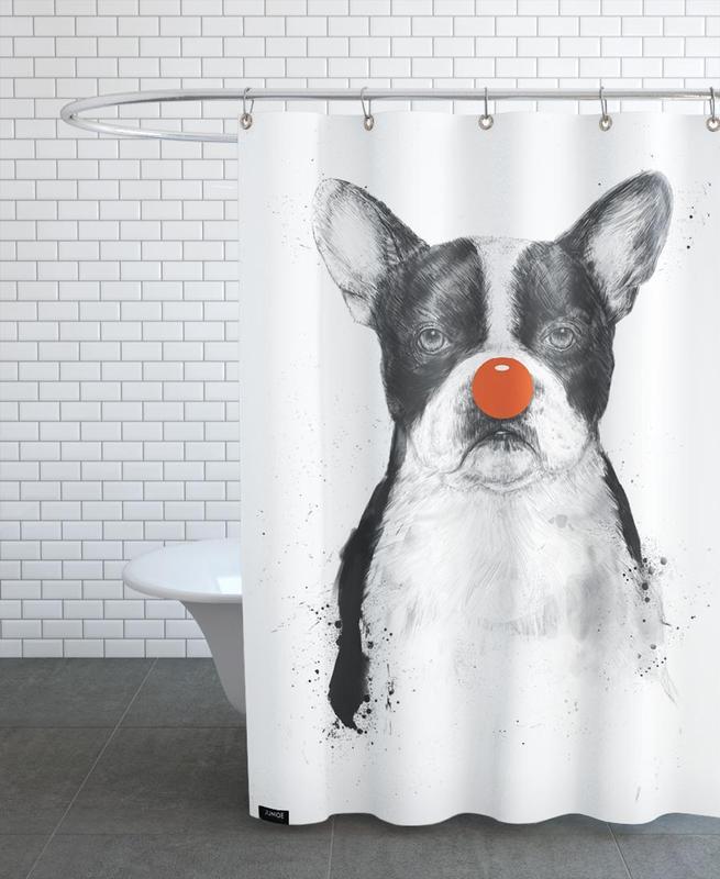 Schwarz & Weiß, Hunde, I'm not your clown -Duschvorhang