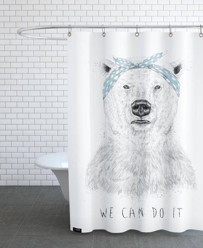 Bären, Schwarz & Weiß, We can do it -Duschvorhang