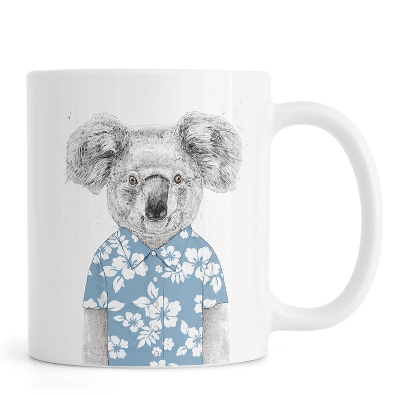 Summer Koala Blue mug