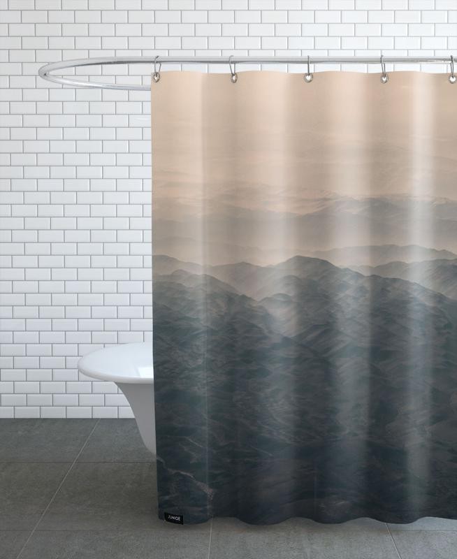 Raw 5 Andes Chile Shower Curtain