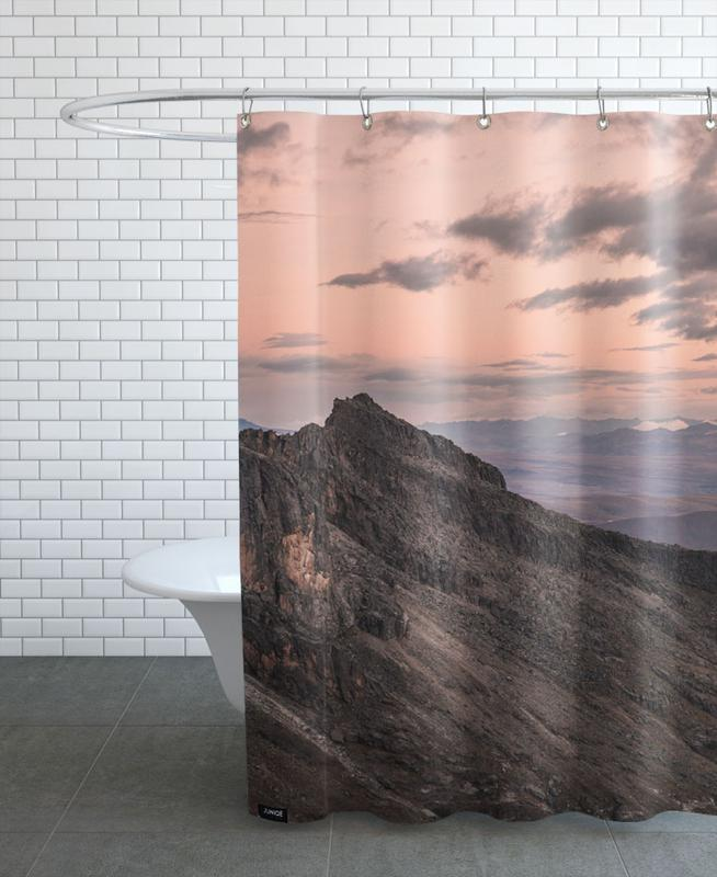 Mountains, Sunsets, Raw 7 Huaraz Colombia Shower Curtain