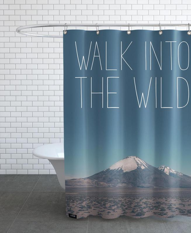 Mountains, Walk into the Wild Shower Curtain