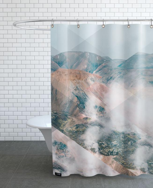 Mountains, Abstract Landscapes, Scattered 4 Landmannalaugar Shower Curtain