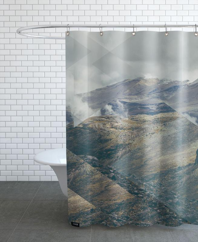 Mountains, Abstract Landscapes, Scattered 4 Nevado del Ruiz Shower Curtain