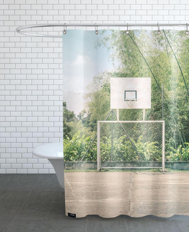Basketball, Streetball Courts 2 Manizales Colombia Shower Curtain