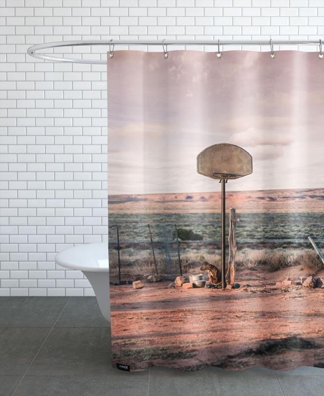 Basketball, Deserts, Streetball Courts 2 Utah USA Shower Curtain