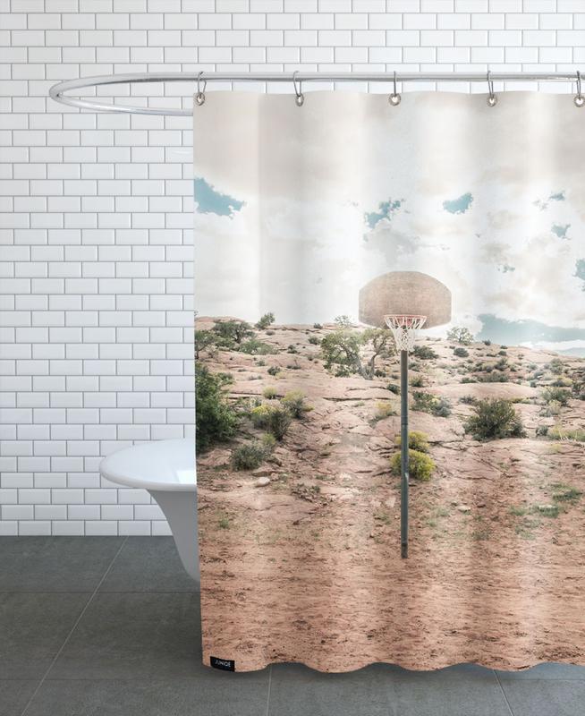 Deserts, Basketball, Architectural Details, Arizona, USA Shower Curtain