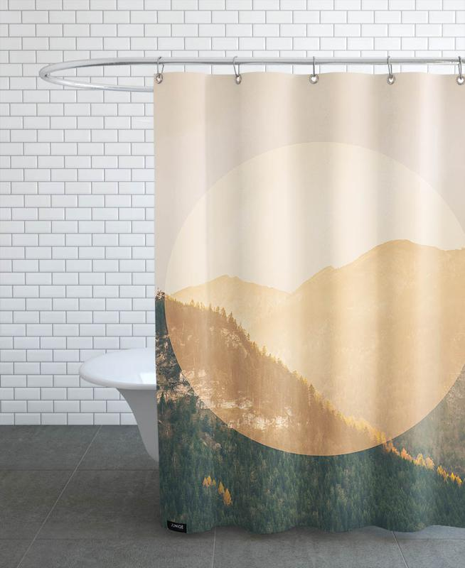 Mountains, Landscapes Circular 2 Alps Shower Curtain