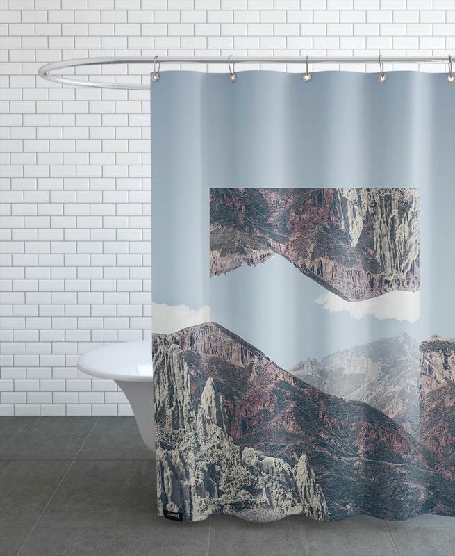 Mountains, Mirrored 2 Chacaltaya Shower Curtain