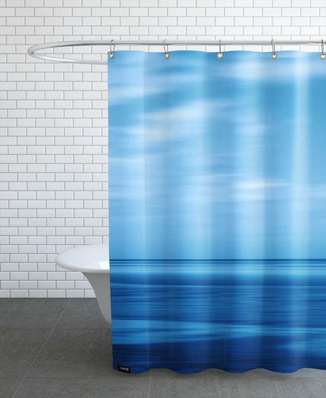 Seascape Blue Sky Shower Curtain