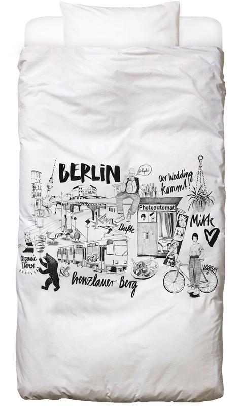 Berlin, Schwarz & Weiß, Reise, BERLIN 2 Bettwäsche