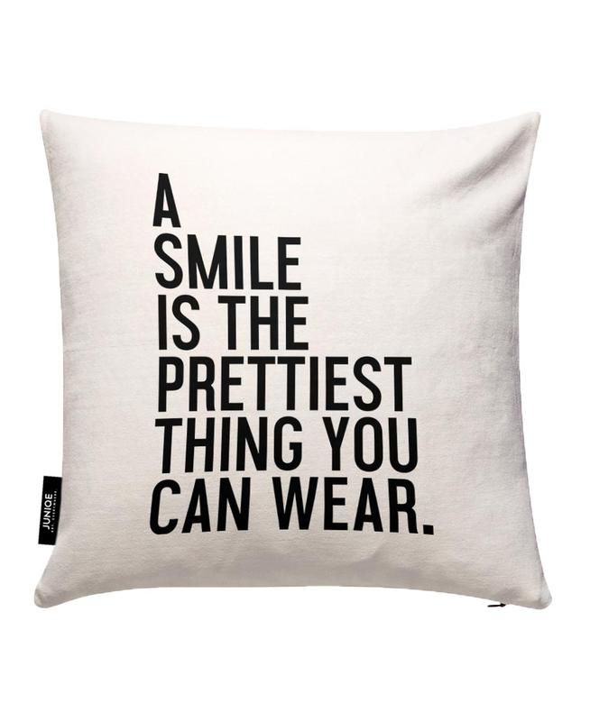 A Smile Is The Prettiest Cushion Cover