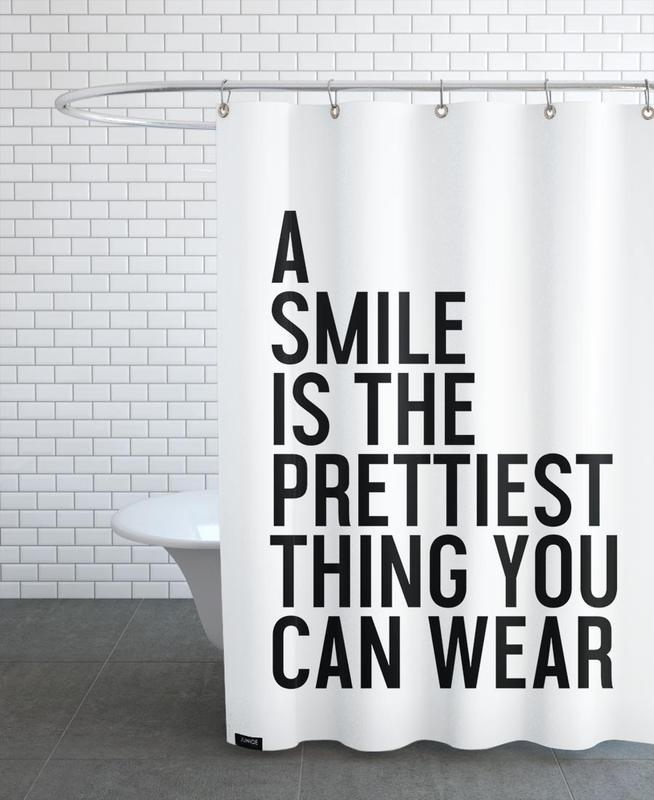 A Smile Is The Prettiest Shower Curtain