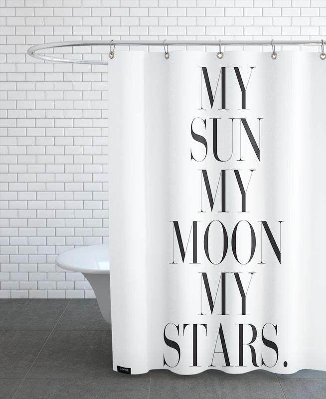 My Sun My Moon Shower Curtain