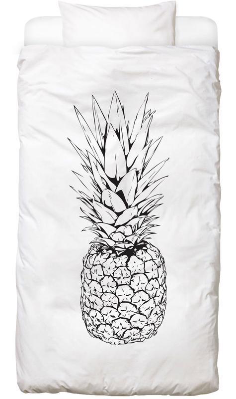 Black & White, Pineapples, Pineapple Bed Linen