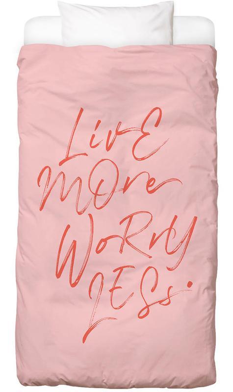 Quotes & Slogans, Live More Bed Linen