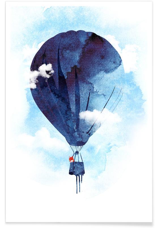Nursery & Art for Kids, Dreamy, Bye Bye Balloon Poster