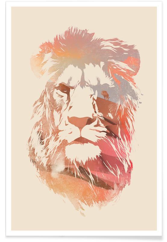 Kunst voor kinderen, Leeuwen, Desert Lion poster