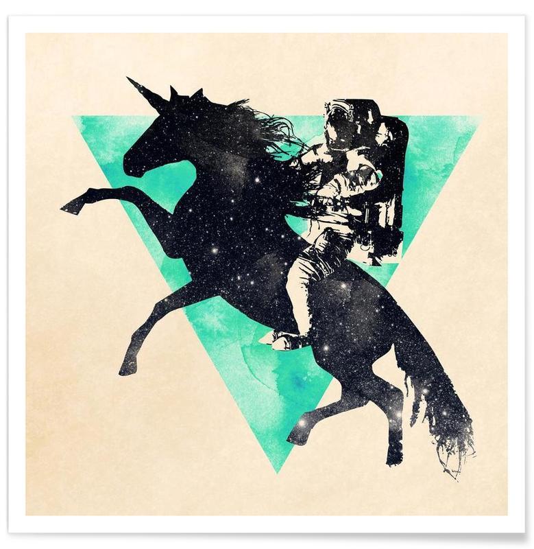 Eenhoorns, Astronauten, Ride the universe poster