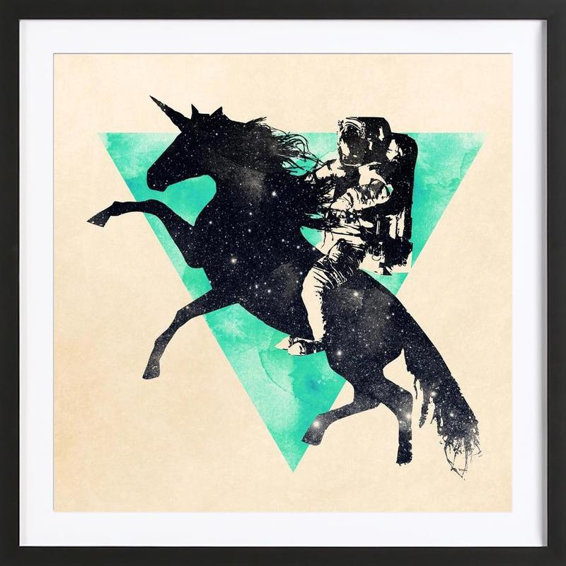Ride the universe Framed Print