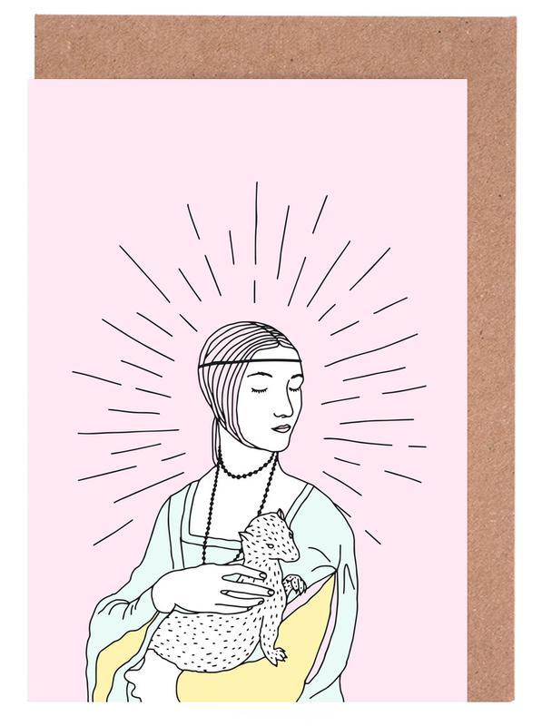 Street Art, The Lady With an Ermin cartes de vœux