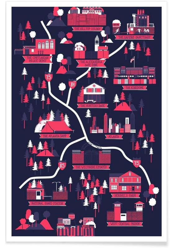 Séries TV, The Walking Dead map affiche