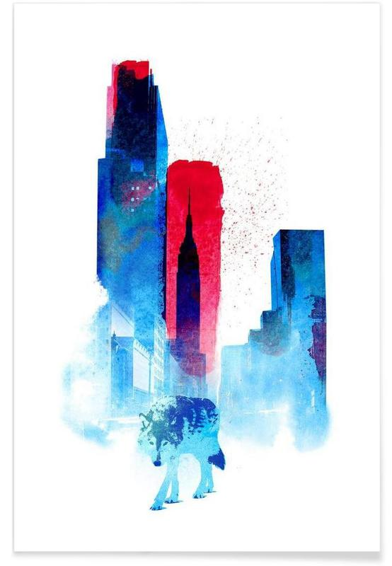 New York, Skyscrapers & High-Rises, The wolf of the city Poster
