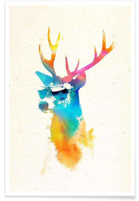 Herten, Sunny deer poster