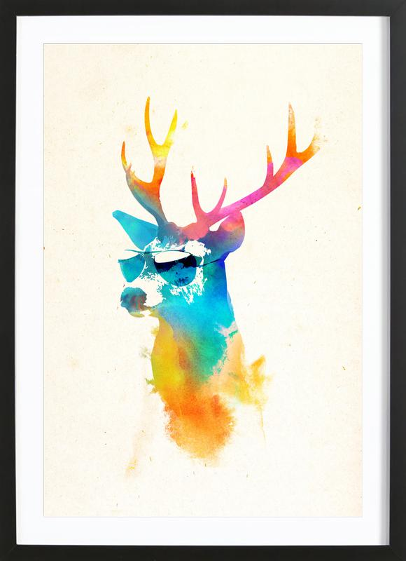 Sunny deer Framed Print