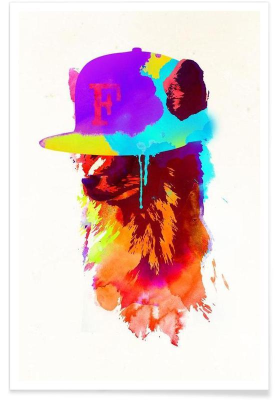 Renards, Foxey's favorite cap affiche