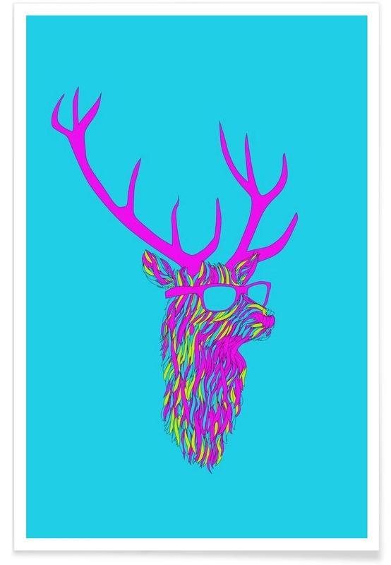 Party deer -Poster