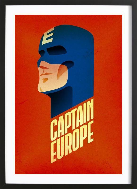 Captain Europe ingelijste print