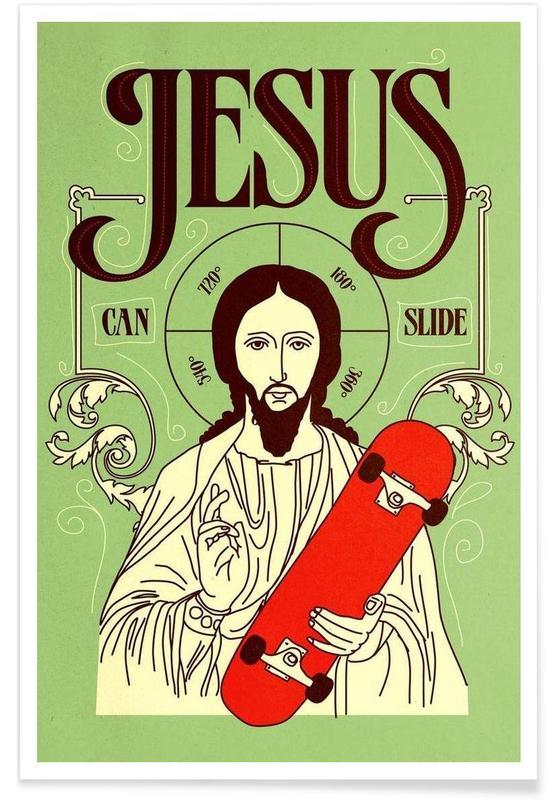 Jesus Can Slide poster