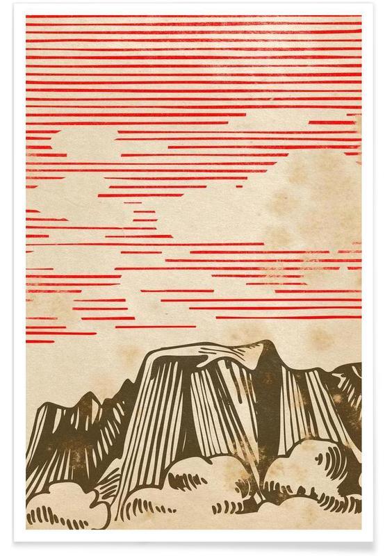 Paysages abstraits, Karpathian Mountains affiche