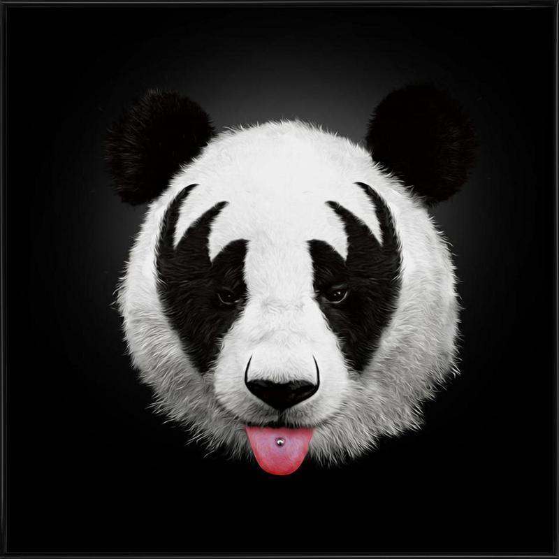 Kiss Of A Panda -Bild mit Kunststoffrahmen