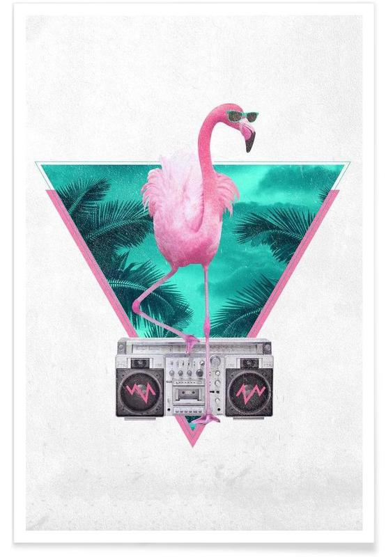 Miami Flamingo Poster