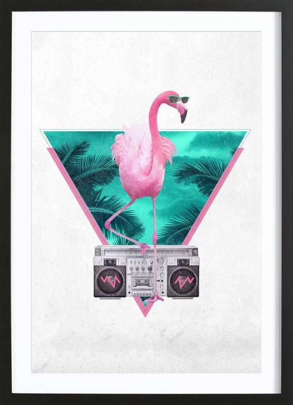 Miami Flamingo Framed Print