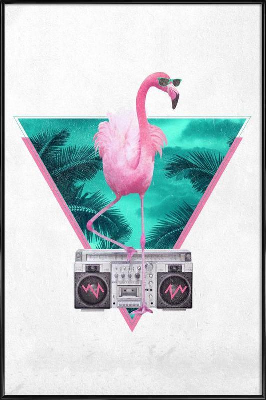 Miami Flamingo Framed Poster