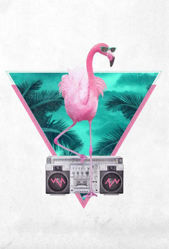 Miami Flamingo -Alubild