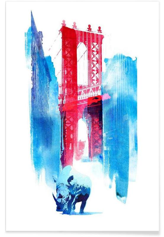 Ponts, Monuments et vues, New York, Manhattan Bridge affiche
