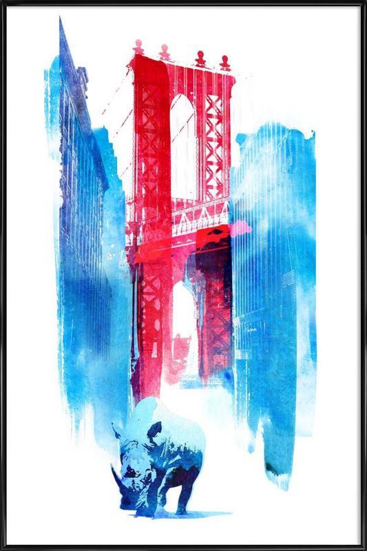 Manhattan Bridge Framed Poster