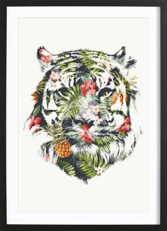 Tropical Tiger ingelijste print