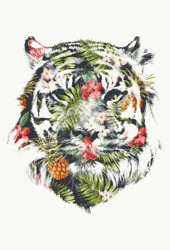 Tropical Tiger alu dibond