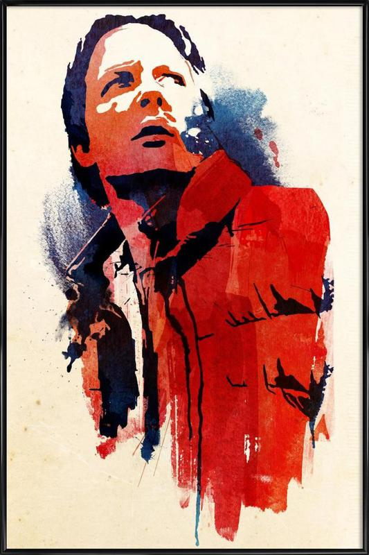 Marty McFly Framed Poster